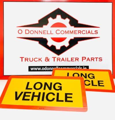 Long Vehicle Sign (Short Aluminium) 2PK - 525 x 250mm